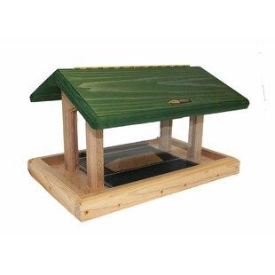 Birds Choice 6 Quart 4-Sided Cedar Tray Bird Feeder