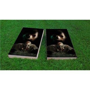 Custom Cornhole Boards Walking Dead Zombies Light Weight Cornhole Game Set