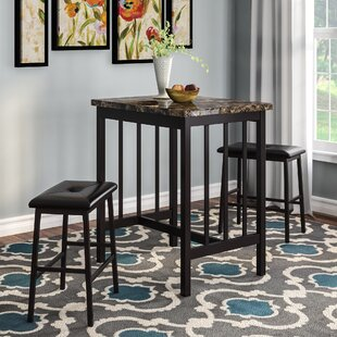 Cavalier 3 Piece Pub Table Set by Andover Mills