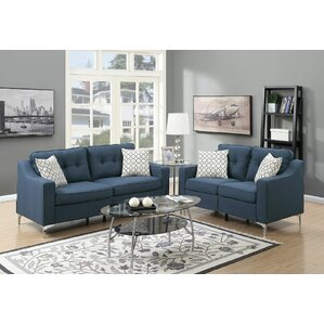 Blue Living Room Sets You\'ll Love | Wayfair