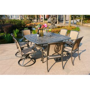 Gunter 9 Piece Dining Set by Fleur De Lis Living