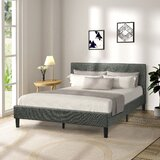 Gosnoll Queen Tufted Low Profile Platform Bed by Red Barrel Studio®