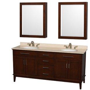Hatton 72 Double Bathroom Vanity Set with Mirror