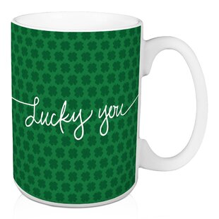 Martinek Lucky Me Polka Dots Coffee Mug