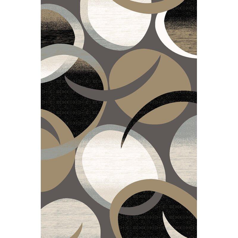 Ivy Bronx Mccampbell Abstract Gray Area Rug Wayfair