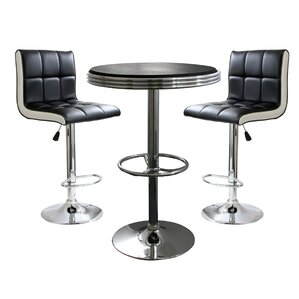 Southampton 3 Piece Adjustable Height Pub Table ..