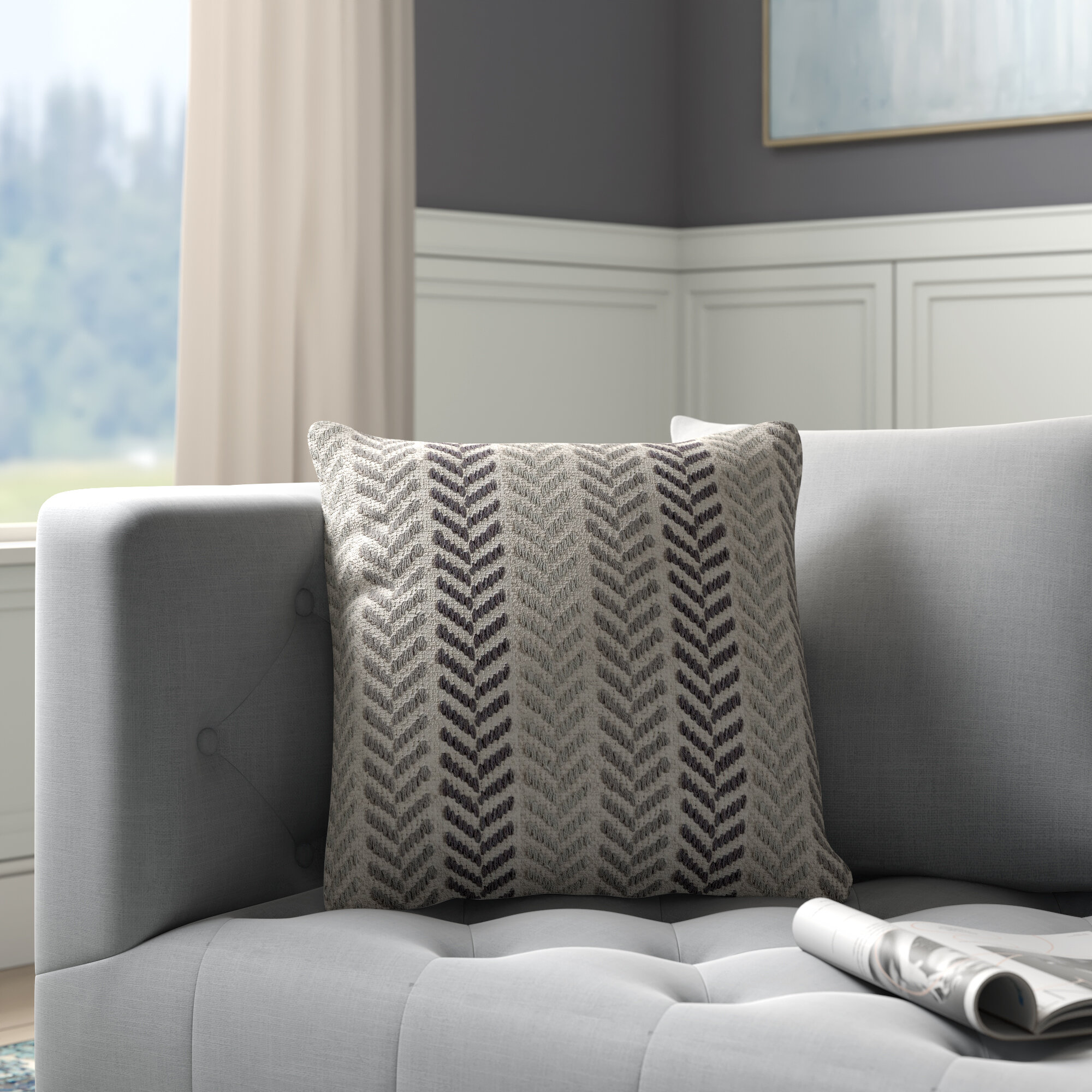 Andover Mills Mcpherson Square Cotton Pillow Cover Insert Reviews Wayfair