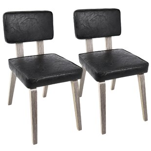 Mccullar Mid-Century Modern Upholstered Dining Chair (Set of 2)