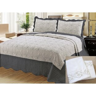 Finck 7 Piece Reversible Quilt Set