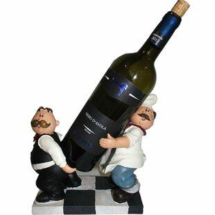 Abdul Chef & Waiter Fashionable 1 Bottle Tabletop Wine Rack by Fleur De Lis Living