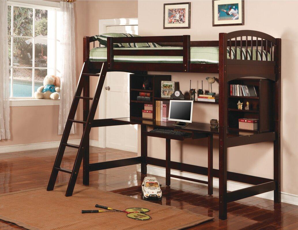wildon home ® dorena twin low loft bed  reviews  wayfair - defaultname