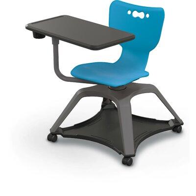"""Hierarchy Plastic 30"""" Table Arm Desk MooreCo Seat Color: Blue"""