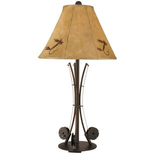 Rustic Living Iron 3-Fishing Pole 34 Table Lamp By Coast Lamp Mfg. Lamps