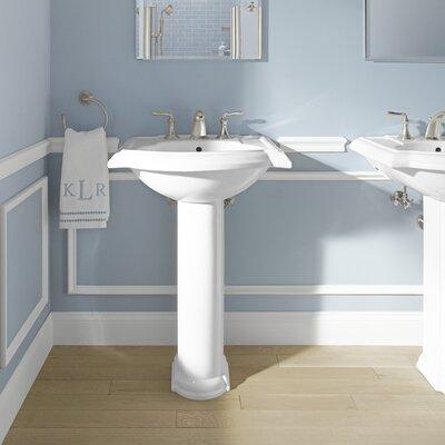 "Bathroom Sinks Pedestal american standard portsmouth 24.38"" pedestal bathroom sink with"