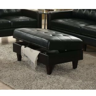 Riverton Upholstered Tufted Storage Ottoman by Wrought Studio