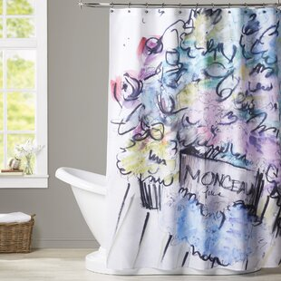 Charlemont Blooms in Paris Single Shower Curtain