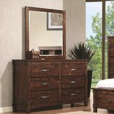 Whitney 6 Drawer Double Dresser with Mirror by Red Barrel Studio®