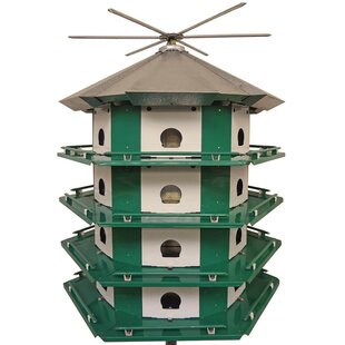 Erva 34.5 in x 29.5 in x 29.5 in Purple Martin Bird House
