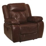 Gascon Leather Recliner by Red Barrel Studio®