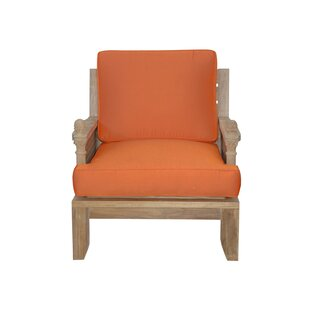 Luxe Teak Patio Chair with Sunbrella Cushions by Anderson Teak
