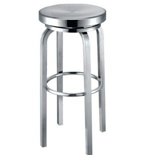 Hicklin Backless Swivel Bar Stool Ebern Designs