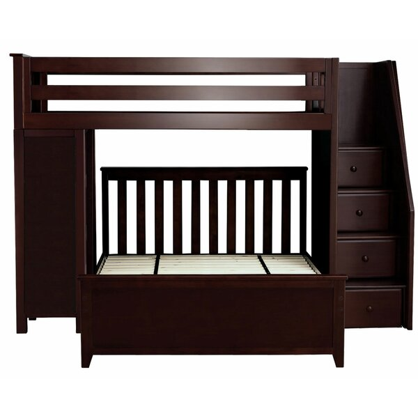 406bc1838694 Alvarez Staircase Combo Twin over Full L-Shaped Bunk Bed   Reviews ...
