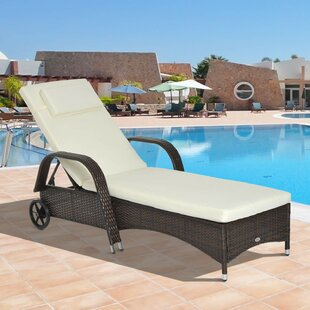 Ridgevale Reclining Sun Lounger With Cushion By Sol 72 Outdoor