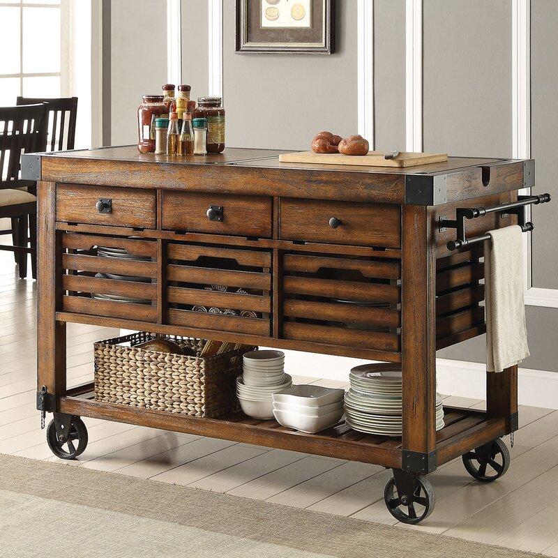 & Williston Forge Lydd Kitchen Cart \u0026 Reviews | Wayfair