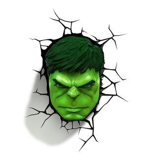 3D Light FX 3D Hulk Face Deco 2-Light Night Light
