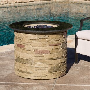 Loon Peak Stafford Stone Propane Fire Pit Table
