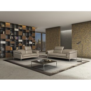 Orren Ellis Blum Leather Configurable Living Room Set