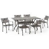 Ridgecrest Traditional Outdoor  7 Piece Dining Set