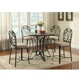 Bocanegra 5 Piece Counter Height Dining Set by Fleur De Lis Living