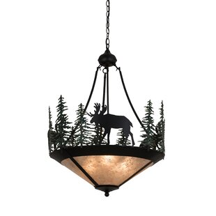 Meyda Tiffany Wandering Moose 3-Light Bowl Pendant