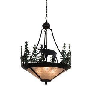 Meyda Tiffany Wandering Moose 3-Light Bowl Pendant