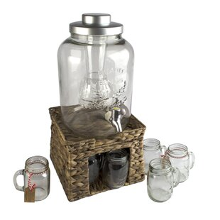 Pollina 10-Piece Beverage Dispenser Set by Beachcrest Home #2