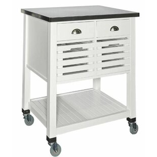 Hollandsworth Kitchen Cart with Stainless Steel Top by Winston Porter