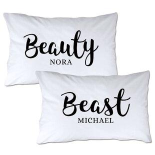 Personalized Beauty & Beast Pillowcase (Set of 2)