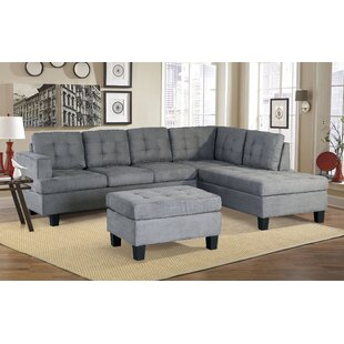 Versailles Leather Sectional with Ottoman by Latitude Run
