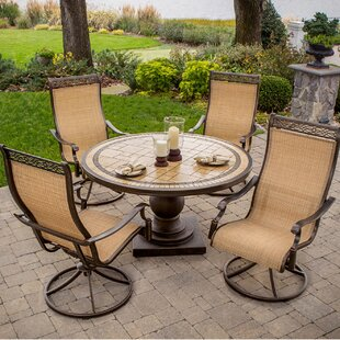 Three Posts Lauritsen 5 Piece Round Dining Set
