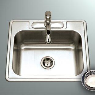 Ada compliant shallow sink wayfair glowtone ada compliant 25 x 22 topmount single bowl 18 gauge kitchen sink workwithnaturefo