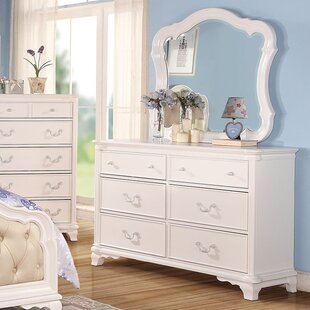 Best Reviews Kintore 6 Drawer Double Dresser with Mirror by Harriet Bee