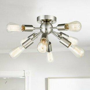 Inexpensive Brick Eco-power Sputnik Chandelier Ceiling 8-Light Semi Flush Mount By Wrought Studio