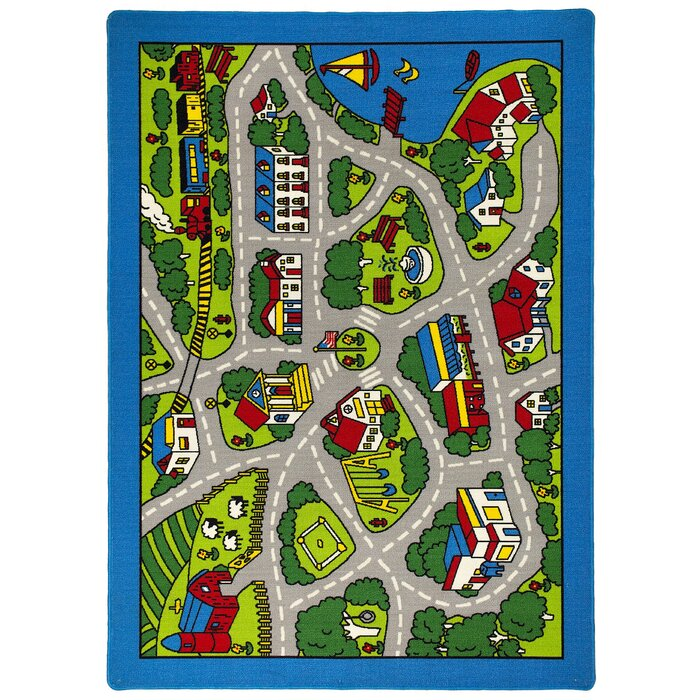 Ramos Street Map Green/Gray Kids Rug on map blanket, map math, map toys, map sheet, map cabinet, map lamp, map decor, map pouf, map quilt, map tile, map storage, map clock, map upholstery, map tree, map bag, map frame, map accessories, map trunk, map furniture, map carpet,