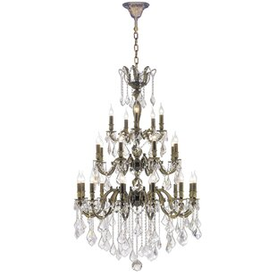 Astoria Grand Dodson 25-Light Candle Style Chandelier