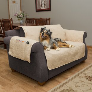 Waterproof Quilted Box Cushion Loveseat Slipcover By Petmaker