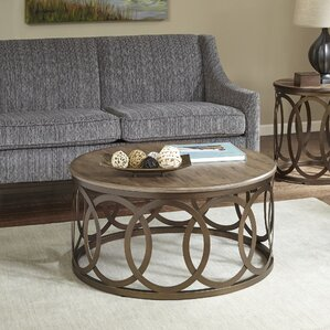 Bleich Round Coffee Table by Ivy Bronx