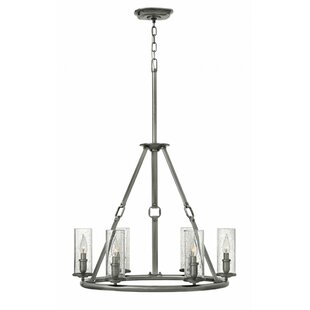 Hinkley Lighting Dakota 6-Light Wagon Wheel Chandelier