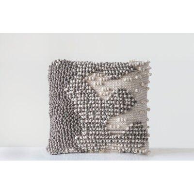 Bungalow Rose Kersh Hand Woven Wool Wool Throw Pillow