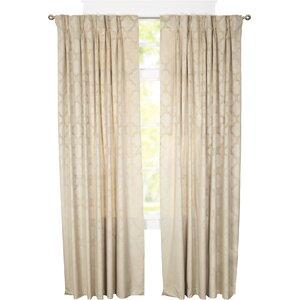 Goldsboro Geometric Room Darkening Thermal Pinch Pleat Single Curtain Panel